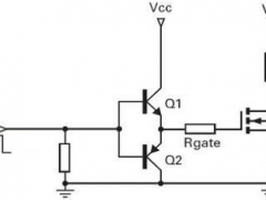 MOSFET driver with transistor