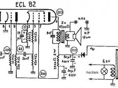 2W UCL82 SE amplifier schematic