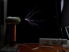 Tesla coil SSTC sparks 7