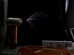 Tesla coil SSTC sparks 12