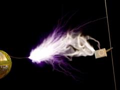 Tesla coil SSTC sparks CW mode  2