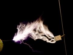 Tesla coil SSTC sparks CW mode  4
