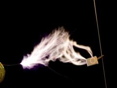 Tesla coil SSTC sparks CW mode  6