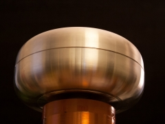 Tesla coil SSTC secondary topload 4