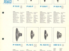 isophon speaker catalogue 1969