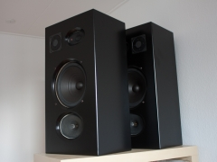 isophon speaker cabinet finished
