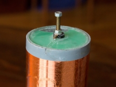 Tesla coil SSTC secondary coil terminal