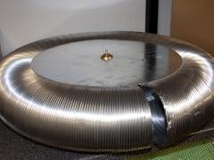 tesla coil DRSSTC topload aluminium tube
