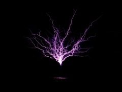 tesla coil DRSSTC upwards sparks 2