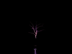 tesla coil DRSSTC upwards sparks 3