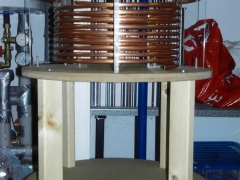 tesla coil DRSSTC primary coil finished