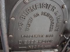 Thrige diesel engine marking plate