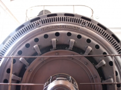 Thrige diesel engine generator closeup