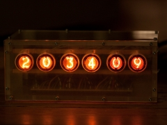 nixie tube clock finished