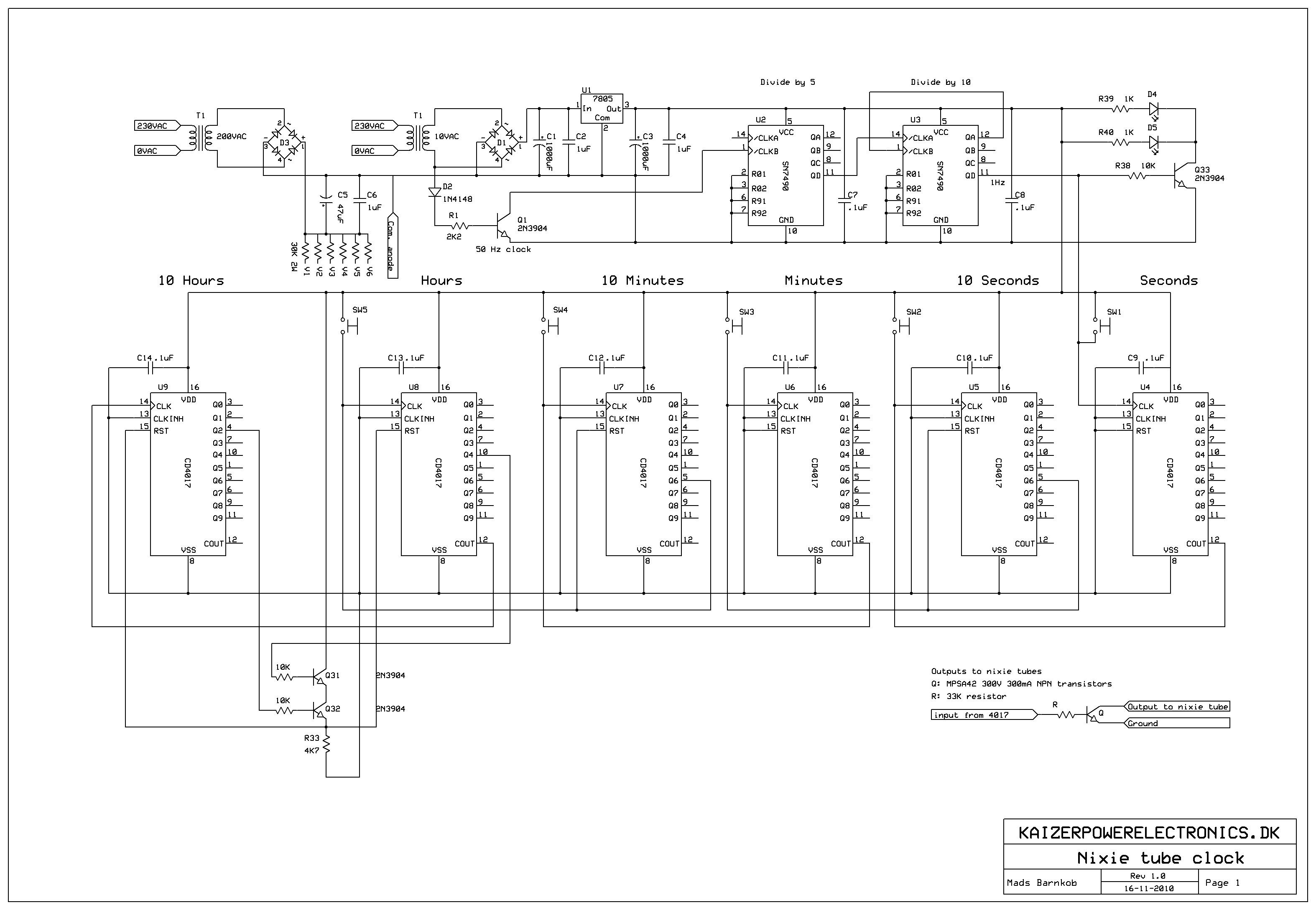 nixie tube clock kaizer power electronics