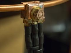 Tesla coil large DRSSTC primary coil tap