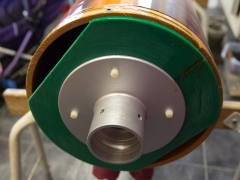 Tesla coil large DRSSTC secondary coil topload support