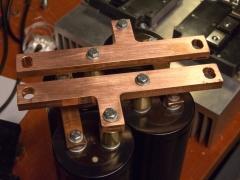 Tesla coil large DRSSTC capacitor busbar