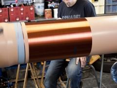 Tesla coil DRSSTC large secondary coil winding