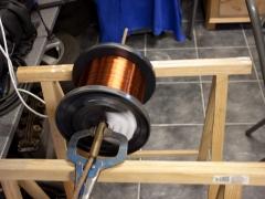 Tesla coil DRSSTC large secondary coil copper spool