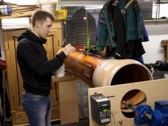 Tesla coil large DRSSTC secondary coil varnish