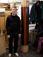 Tesla coil large DRSSTC secondary coil finished