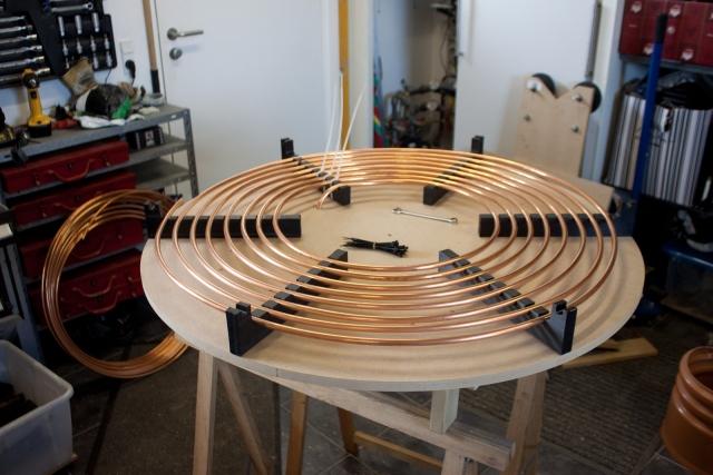 Tesla coil large DRSSTC primary coil