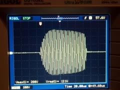 Tesla coil DRSSTC primary current