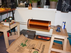 Tesla coil DRSSTC secondary coil winding