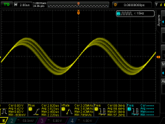 Secondary resonance with primary open loop - 80cm wire load with branches 88kHz