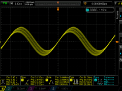Secondary resonance with primary open loop - 80cm wire load 92kHz