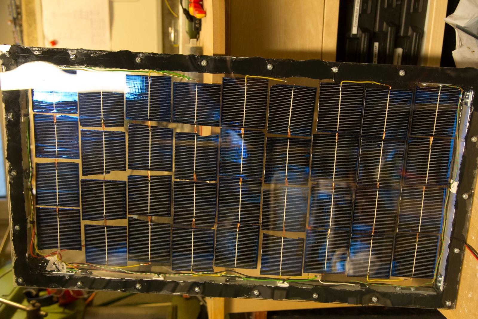 DIY homemade solar panel power generation finished