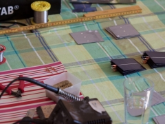 DIY homemade solar panel power generation test