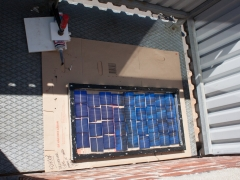DIY homemade solar panel power generation construction