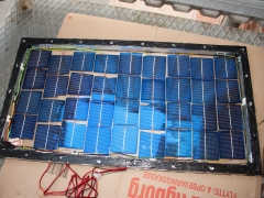 DIY homemade solar panel power generation finished