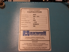 capacitor bank  maxwell energy discharge