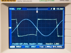 Induction heater gate drive waveform