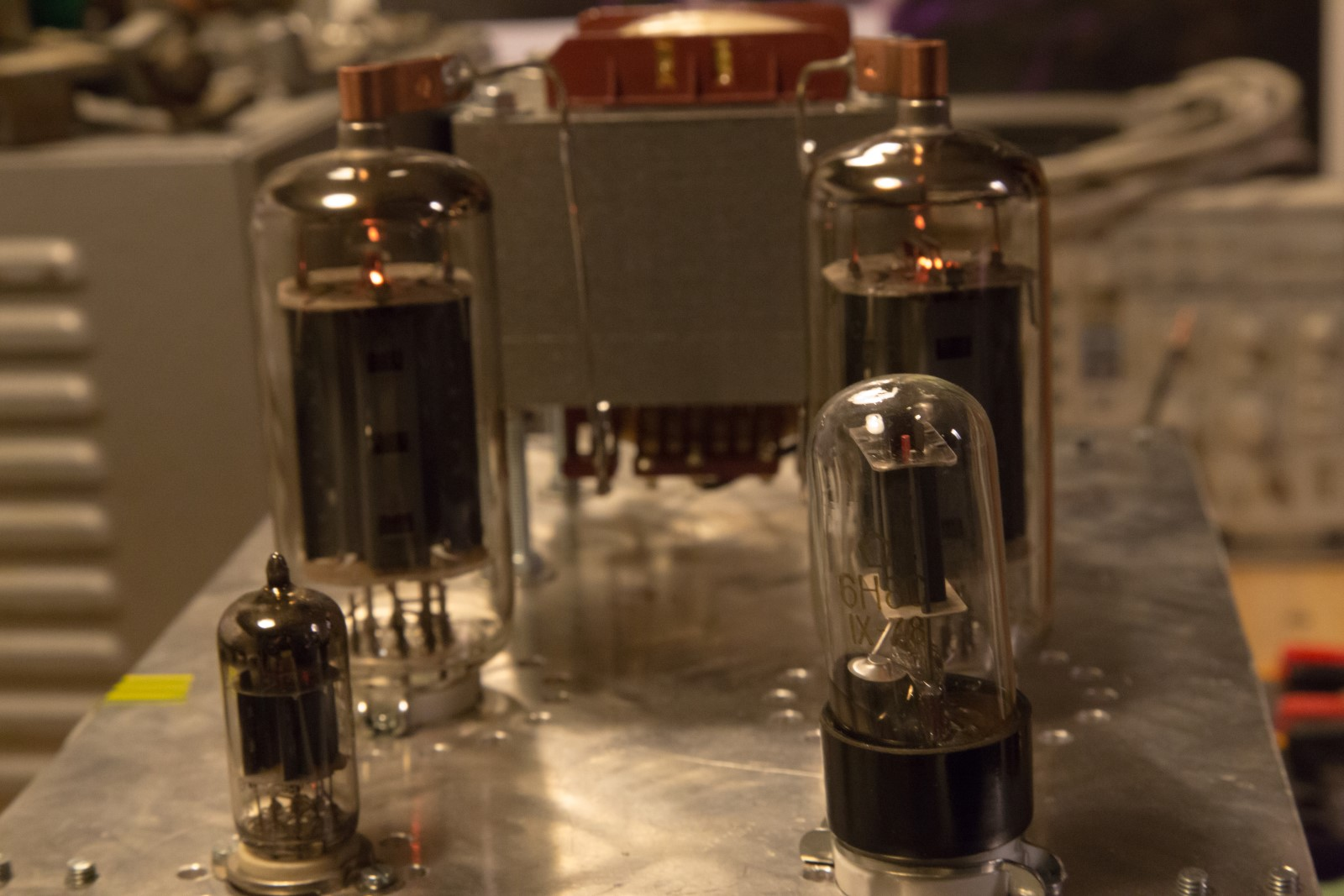 50w 6p45s Monoblock Tube Amplifier Kaizer Power Electronics Amplifiers Here Is A Video Of The First Time Working At Full Input Voltage And Negative Bias Adjusted For 1000 Mv Over Cathode Resistors