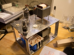 Tube amplifier 6P45S prototype