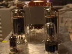 Tube amplifier 6P45S  prototype test