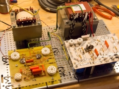 Tube amplifier 6P45S  cabinet all wiring