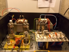 Tube amplifier 6P45S  final test