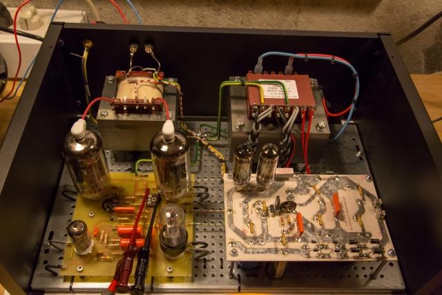 Tube amplifier 6P45S  final test