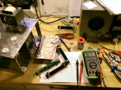 Tube amplifier 6P45S prototype power supply