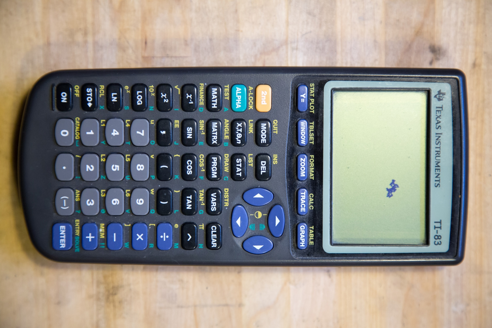 Texas Instruments TI-83 calculator display repair
