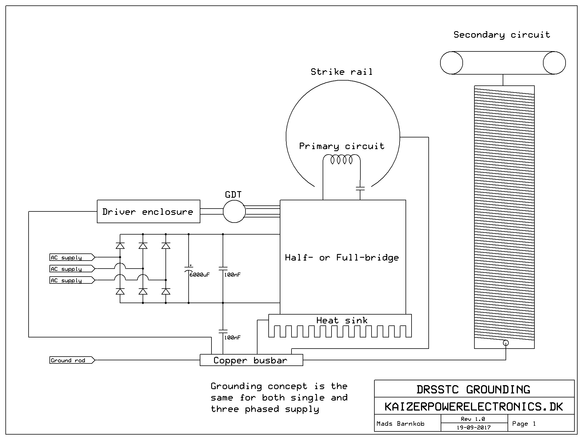 Grounding Circuit Protection And Emi Kaizer Power Electronics. Tesla. Fly Back Tesla Coil Circuit Diagram At Scoala.co