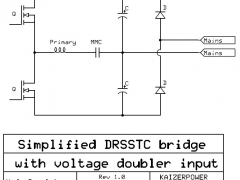 Tesla Coil DRSSTC design guide voltage doubler bridge
