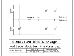 Tesla Coil DRSSTC design guide voltage doubler bridge with capacitor