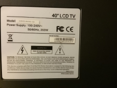 LCD TV marking plate