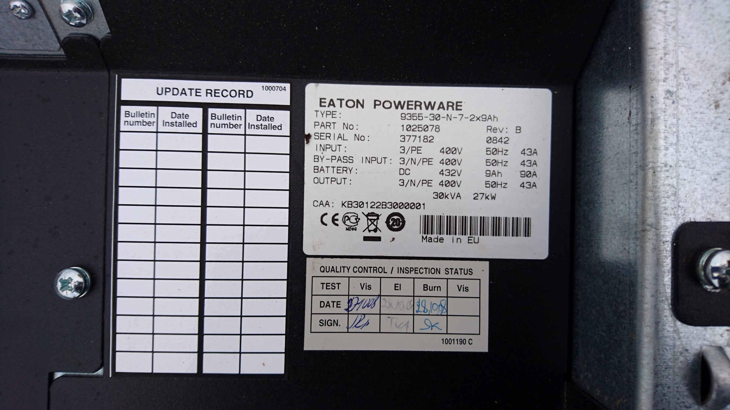 Teardown Eaton Powerware 30 Kva Ups Kaizer Power Electronics Leave A Comment Tags For Home Installation Inverter Wiring Looking Up The Type On Website We Learn That It Is Using Double Conversion Topology Provides Isolation From All Input Anomalies